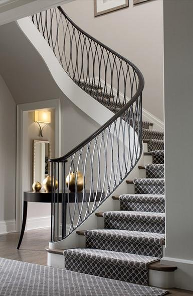 transitional stair carpet