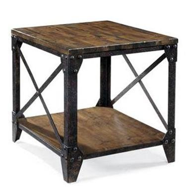 rustic living room ideas - end table