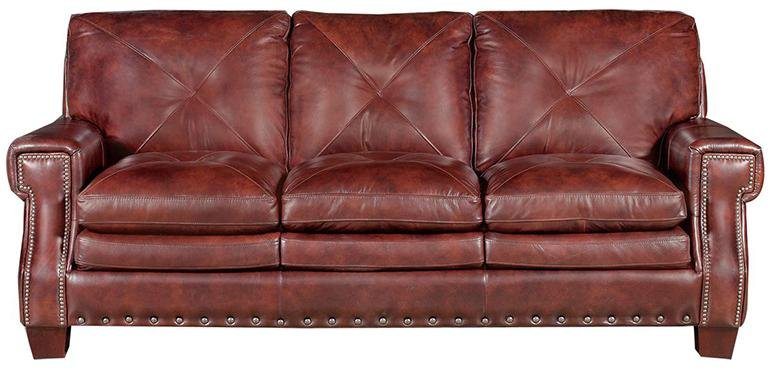 rustic living room ideas - leather couch