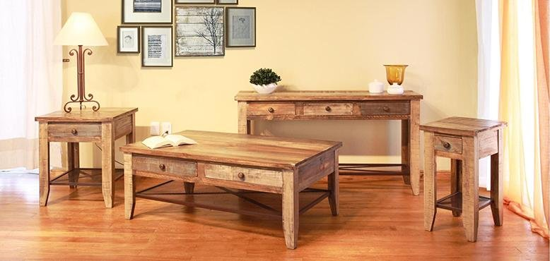rustic living room ideas - tables