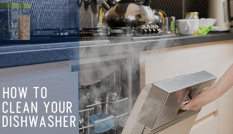 how to clean your dishwasher steps