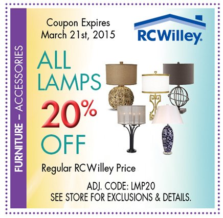 Salt Lamps R Us Coupon : Coupon Book Sale! Over USD 5,000 in Coupon Savings. RC Willey Furniture Store