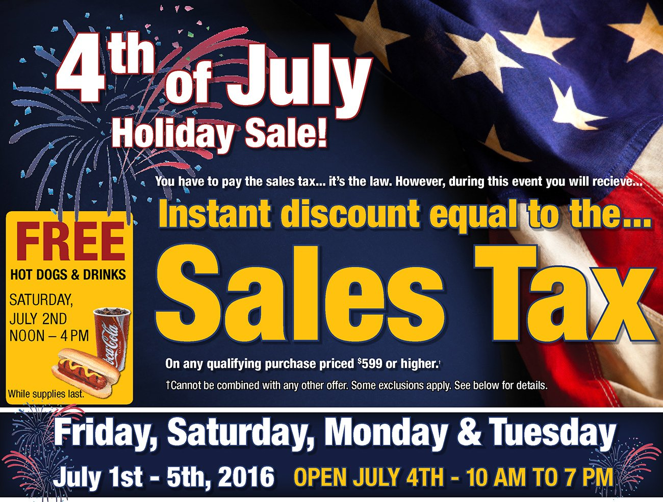 4th Of July Sales Tax Event Rc Willey Furniture Store