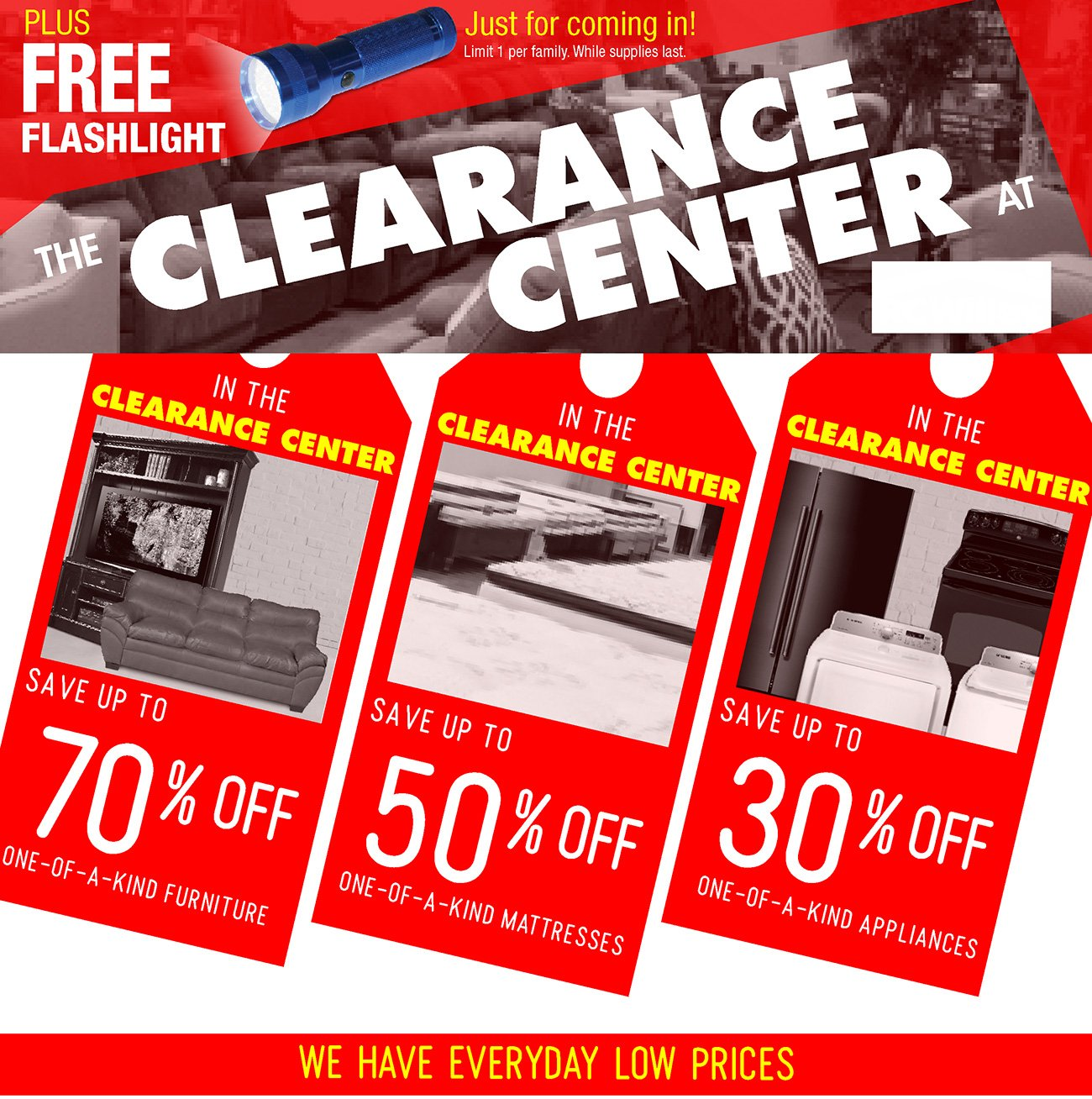 Red Tag Clearance Savings
