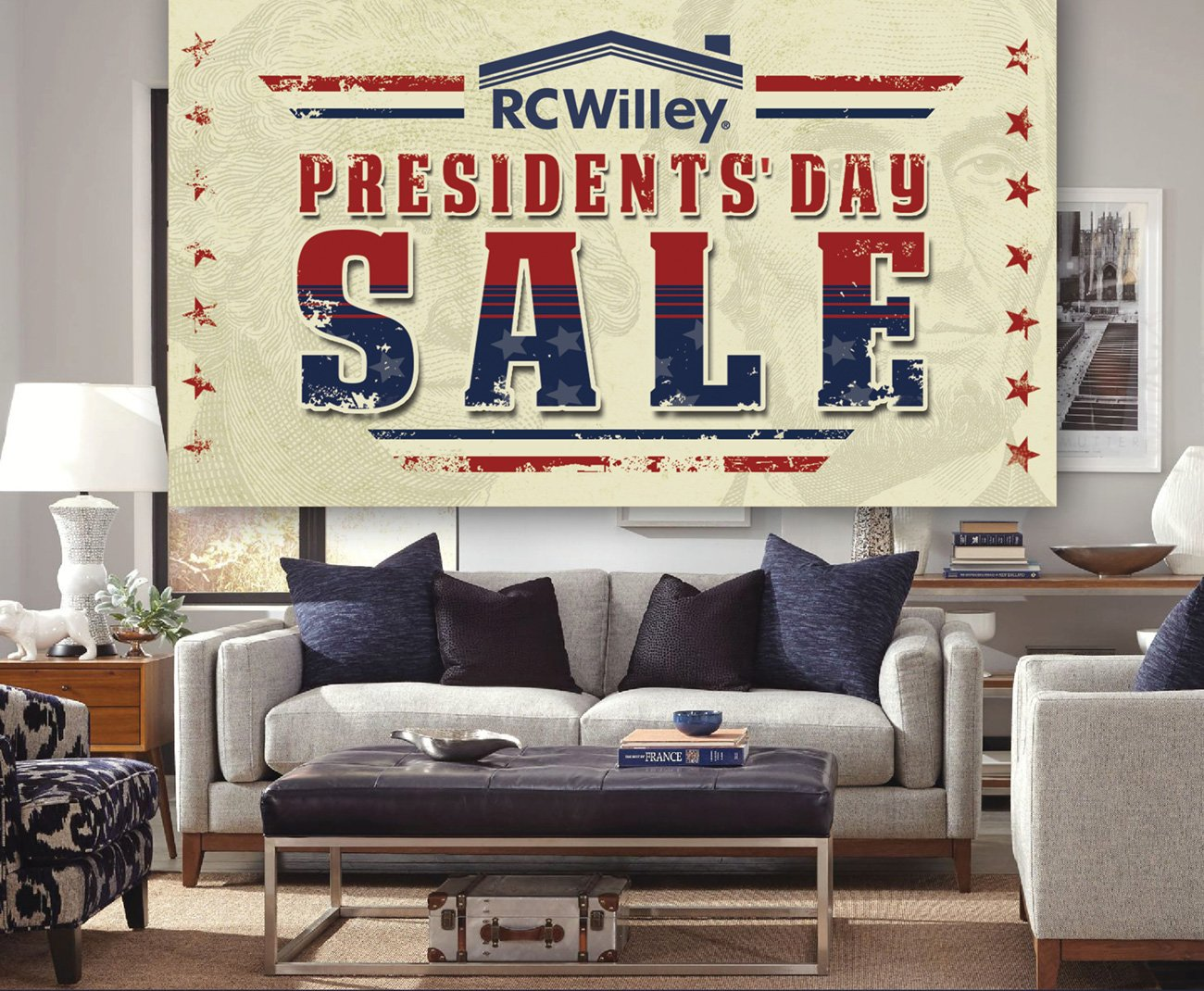 The presidents 39 day sale is here rc willey furniture store for Presidents day furniture sales