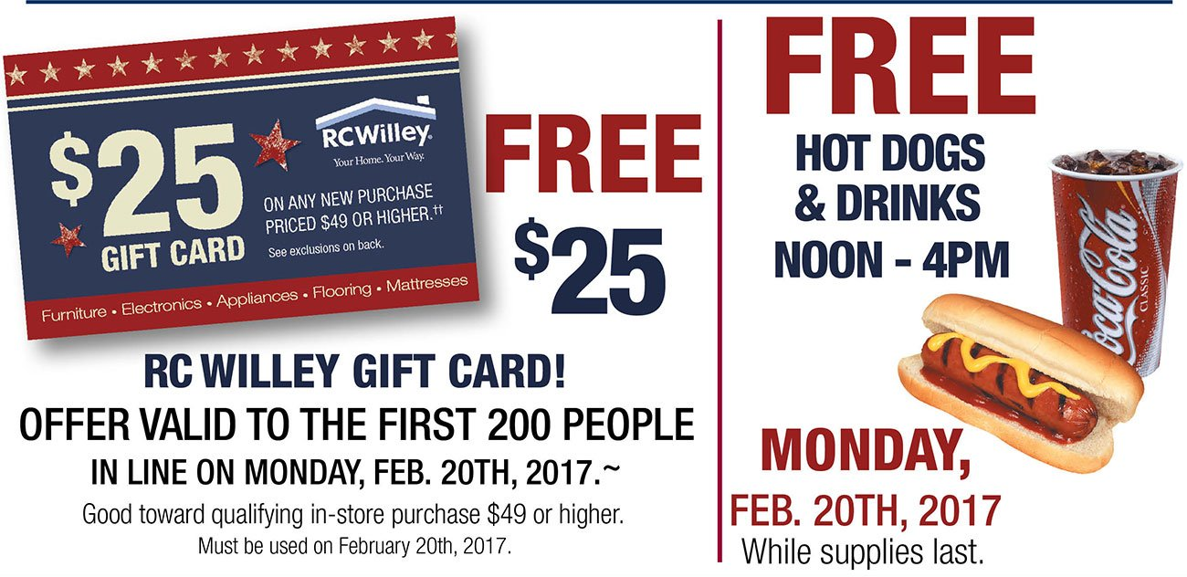 Rc willey coupons 2018