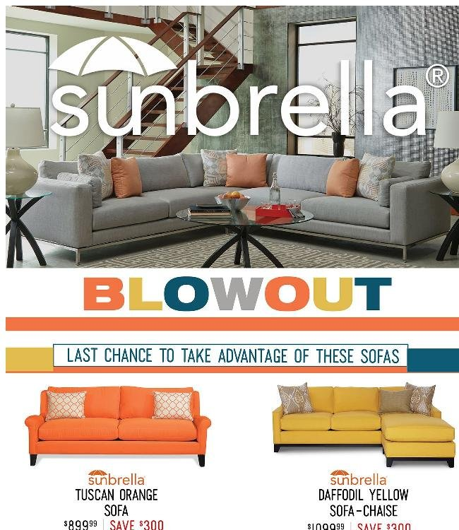 Sunbrella Blowout Begins Today! Shop Now.