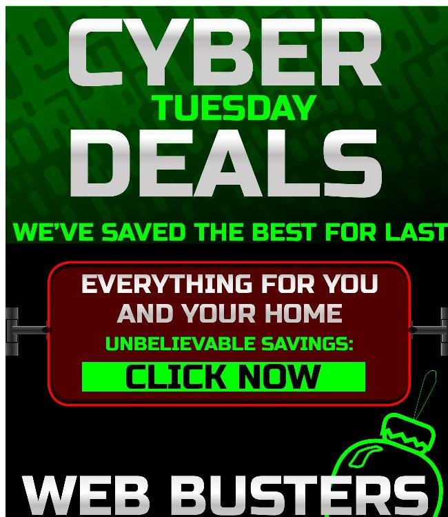 One Final Day of Cyber Savings!