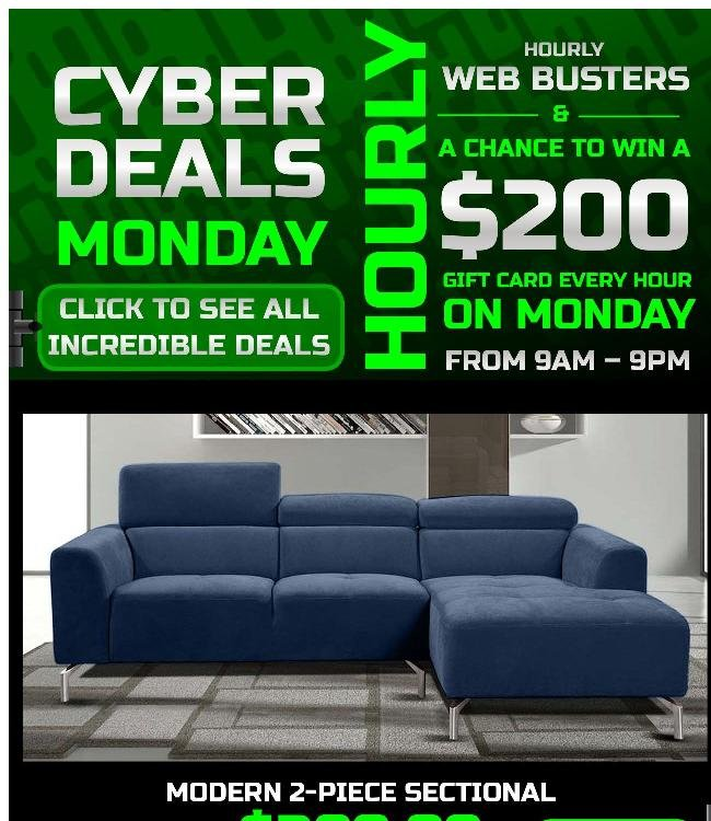 Hourly Specials, Hourly Giveaways. Cyber Monday Is Here!