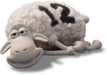 content sheep lying down