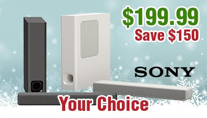Advent Calendar Today: Day 10 Christmas Deal - Sony HT-MT300 2.1 Mini Soundbar and Wireless Subwoofer