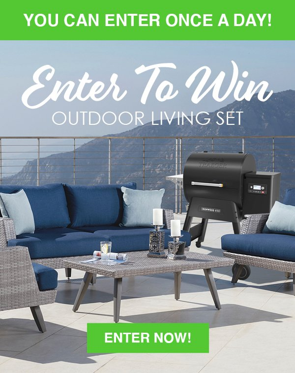 Enter to Win an Outdoor Living Set from RC Willey in our March 2020 Giveaway