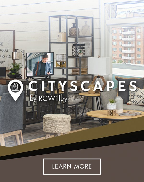 Make the most of your small space by shopping for furniture and appliances from CityScapes by RC Willey in our online furniture store and online appliance store