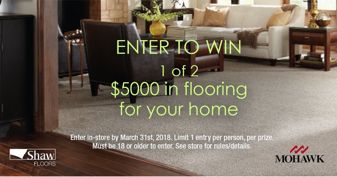 Enter to Win 1 of 2 Flooring for your home