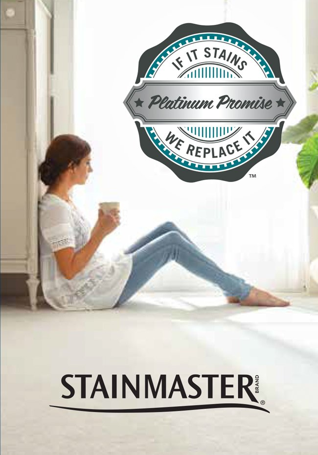 Stainmaster if it stains, we replace it platinum promise