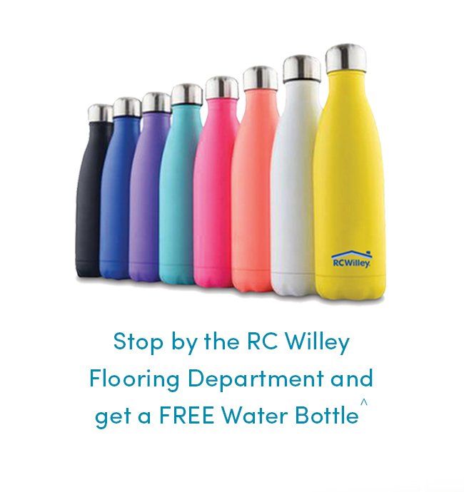 Get your Free Water Bottle at the Flooring Department