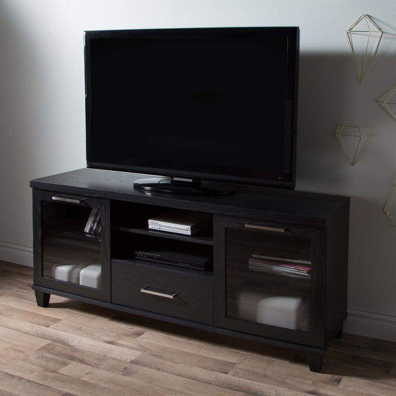 Black Oak Tv Stand Up To 60 Inch Adrian Rc Willey Furniture Store