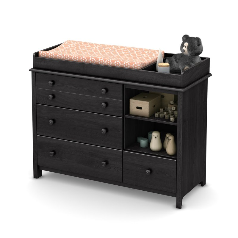 Gray Oak Changing Table With Removable Changing Station   Little Smileys |  RC Willey Furniture Store