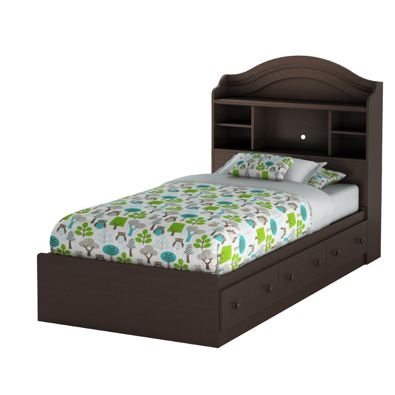 Summer breeze chocolate twin mates bed - Different styles of bed frames ...