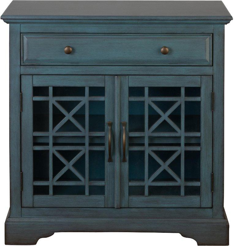 Antique blue 2 door 1 drawer accent cabinet for 1 drawer 2 door cabinet