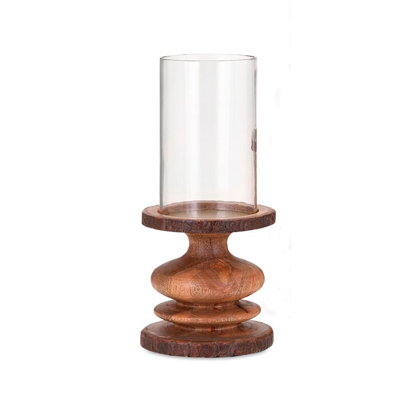 Rc Willey Orem Mall: 10 Inch Wood Bark Candle Holder