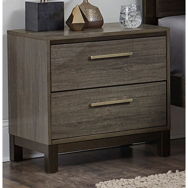 Rc Willey Outlet Center Now Closed: Gray & Black Contemporary Nightstand - Oxon