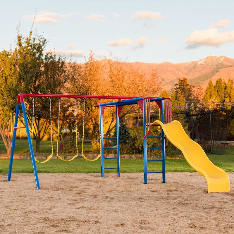 Lifetime Products Monkey Bar Swing Set Rc Willey Furniture Store