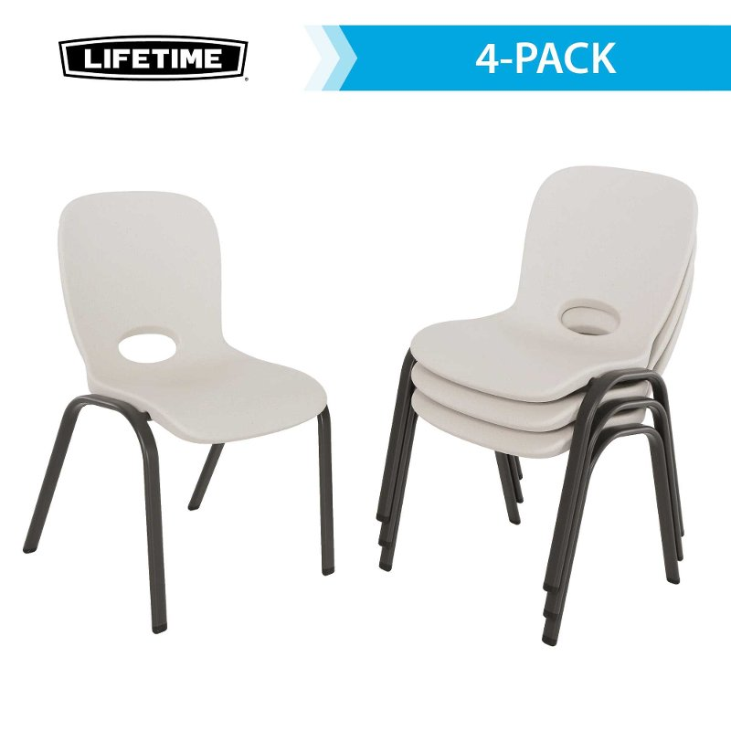 Excellent Lifetime Almond Kids Chairs 4 Pack Gmtry Best Dining Table And Chair Ideas Images Gmtryco