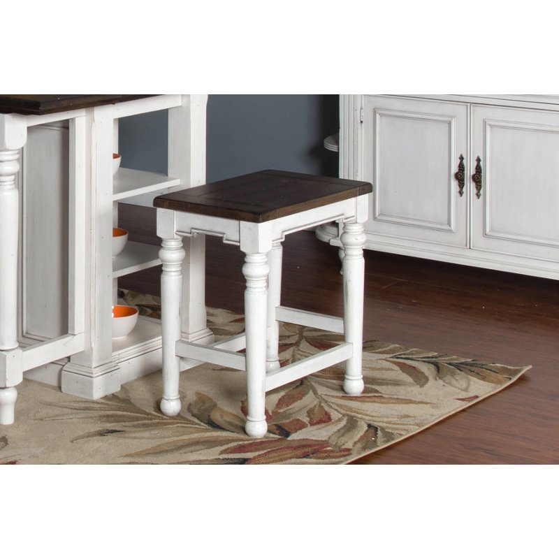 Bourbon County White And Brown Counter Stool