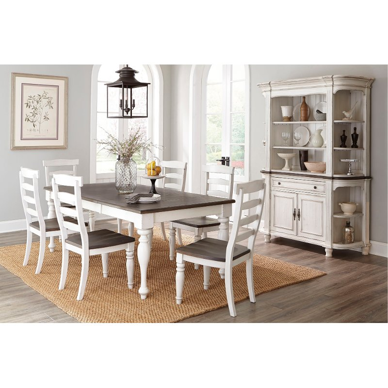 Two Tone French Country 5 Piece Dining Set Bourbon County Rc