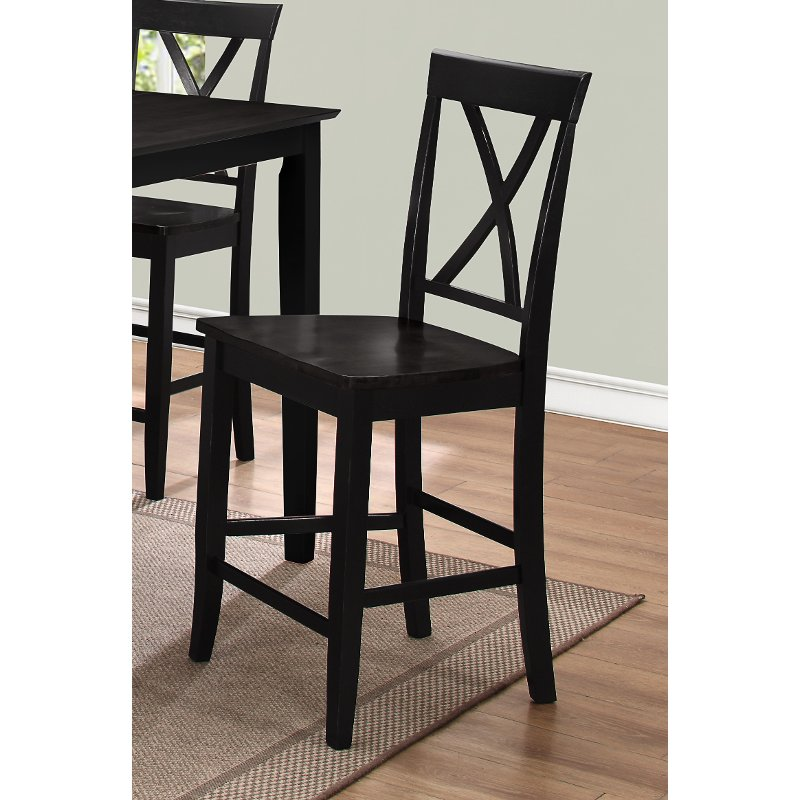 Black 24 Inch Counter Stool Cape Hope Rc Willey