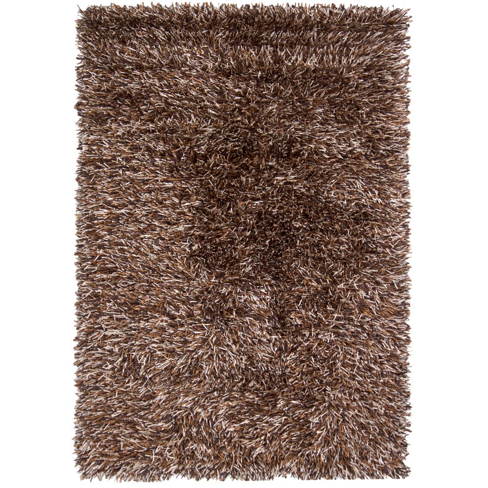 Contemporary Brown And Beige Shag Rug
