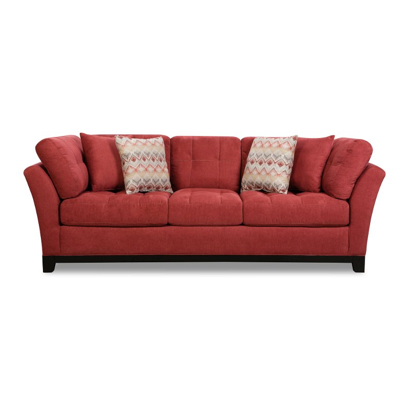 Casual Contemporary Red Sofa Loxley