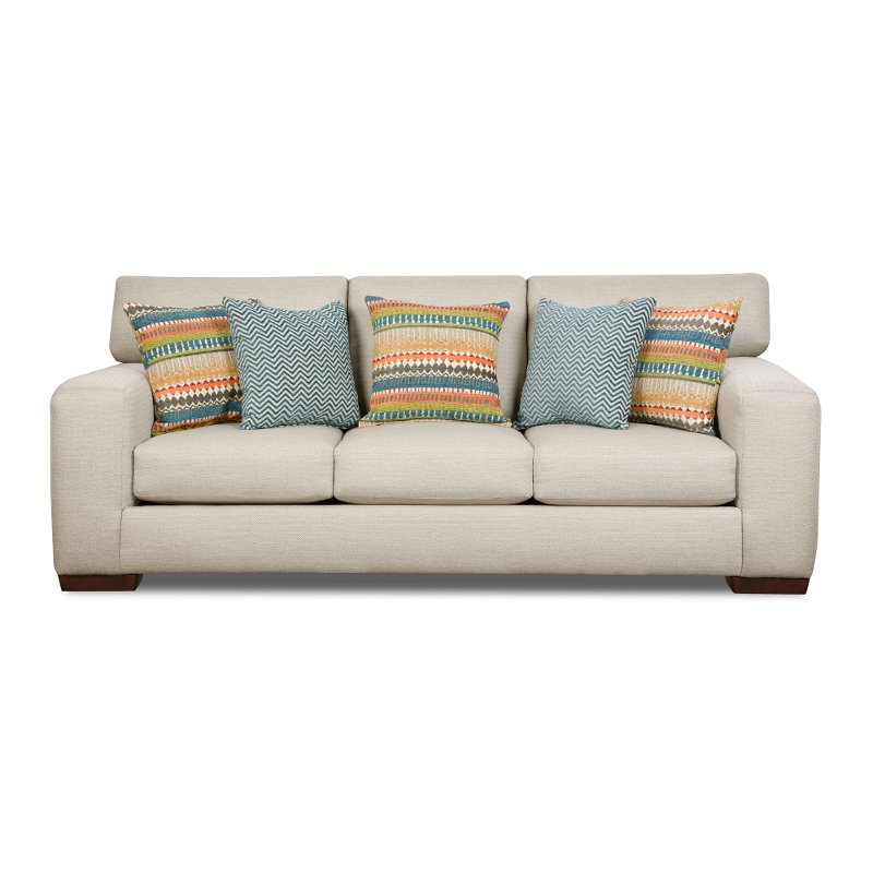Casual Contemporary Pebble White Sofa - Spain