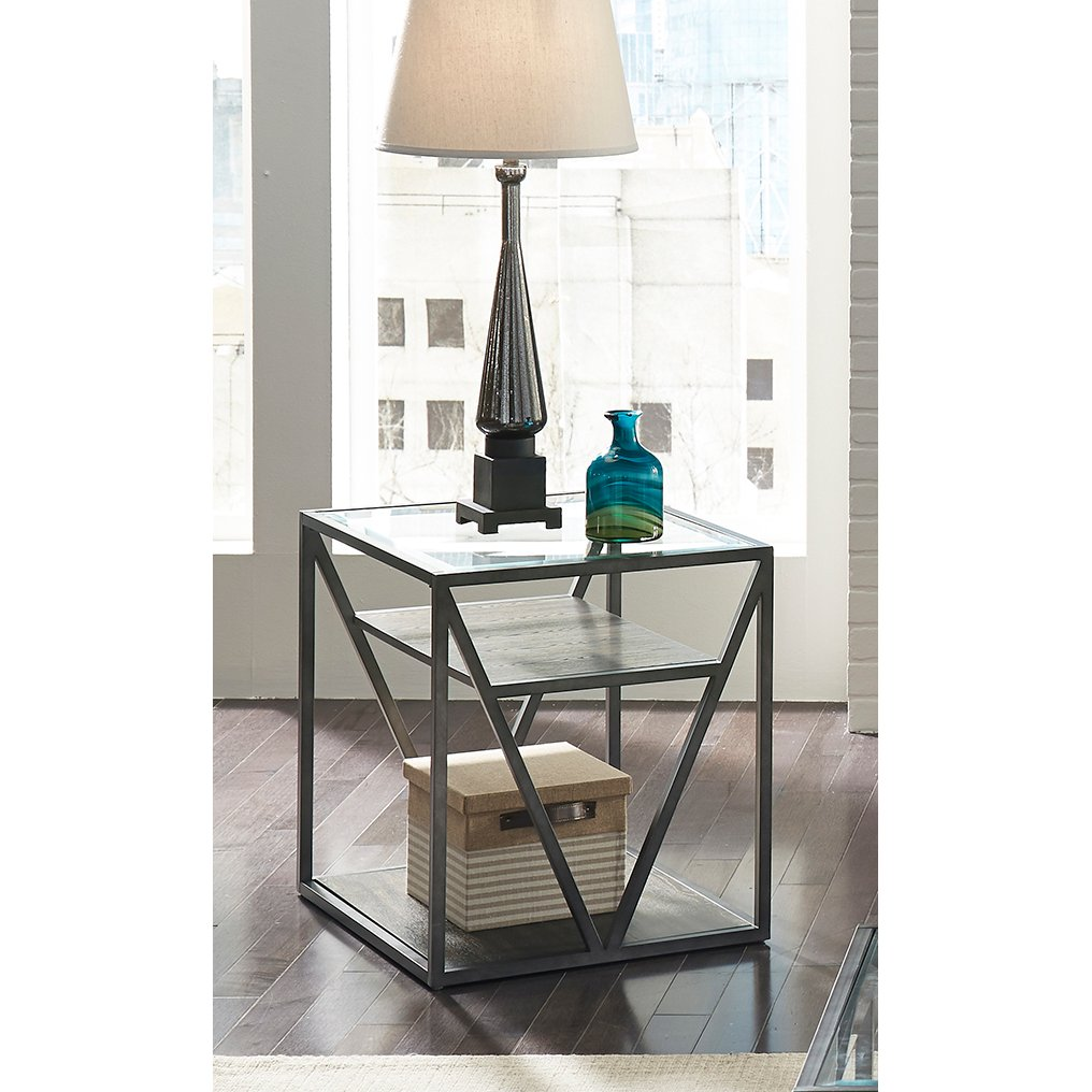 Modern Glass End Table   Arista