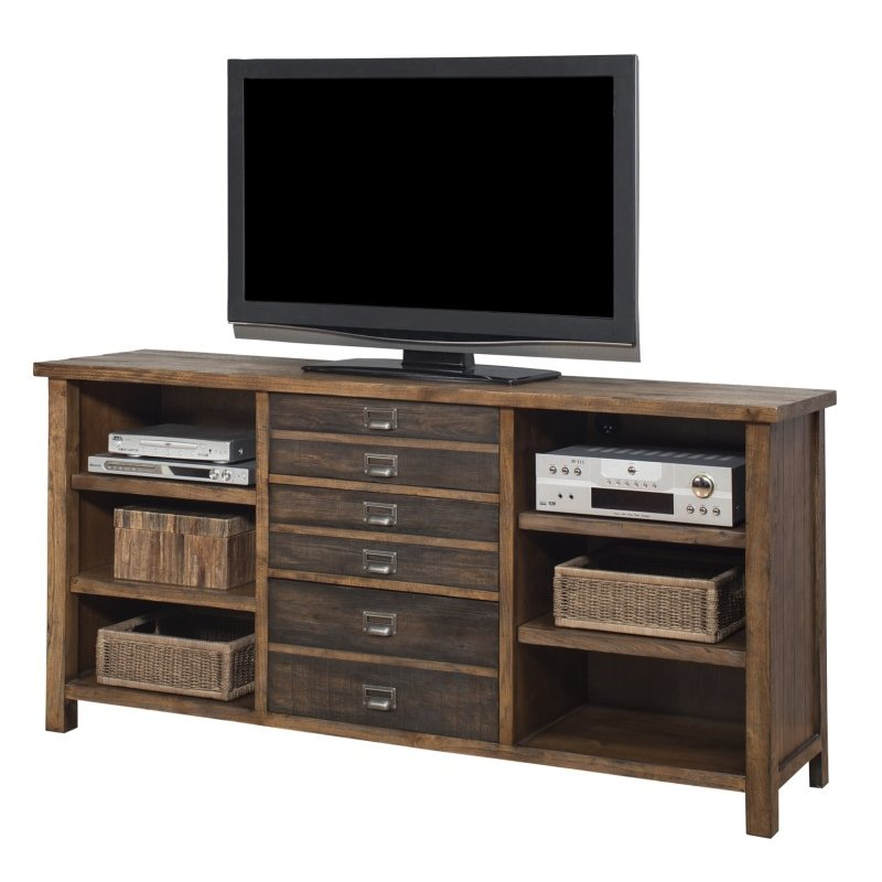 70 Inch Hickory Tv Stand Heritage