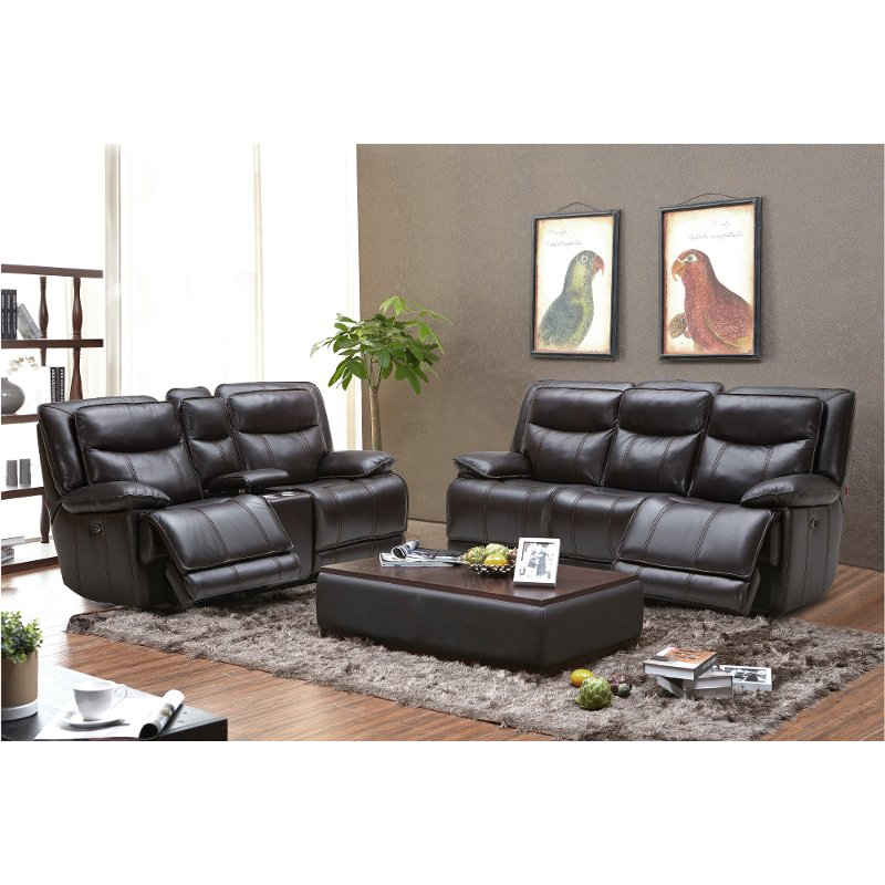 Blackberry Leather Match Reclining Living Room Set K Motion Rc Willey Furniture
