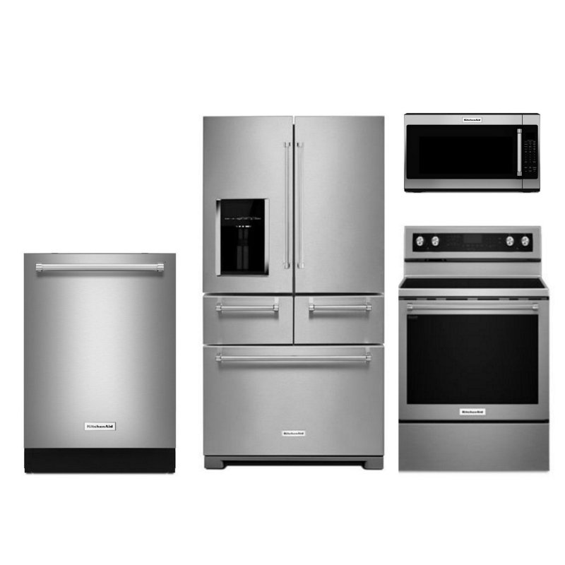 Ordinaire KitchenAid 4 Piece Kitchen Appliance Package With Electric Range    Stainless Steel | RC Willey Furniture Store