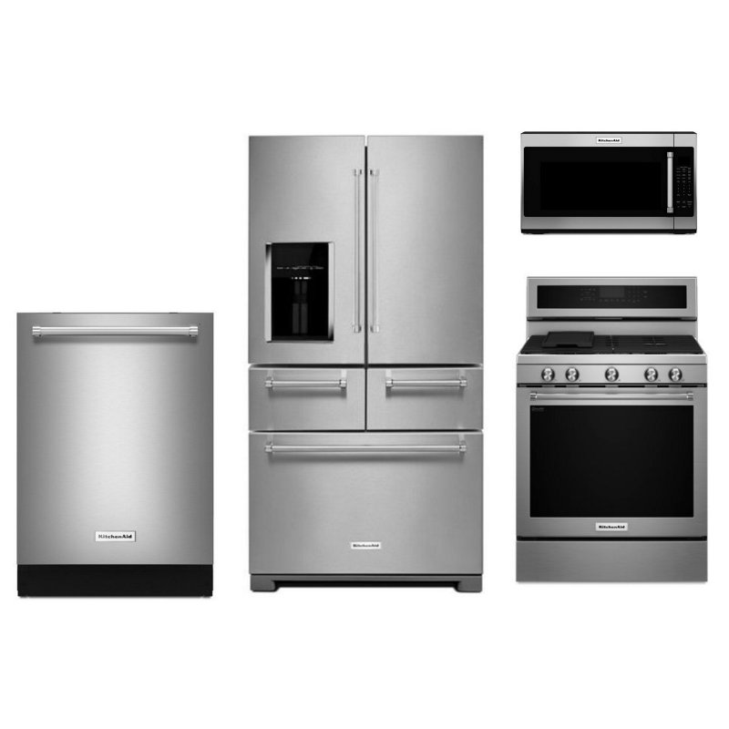 KitchenAid 4 Piece Kitchen Appliance Package   Stainless Steel | RC Willey  Furniture Store