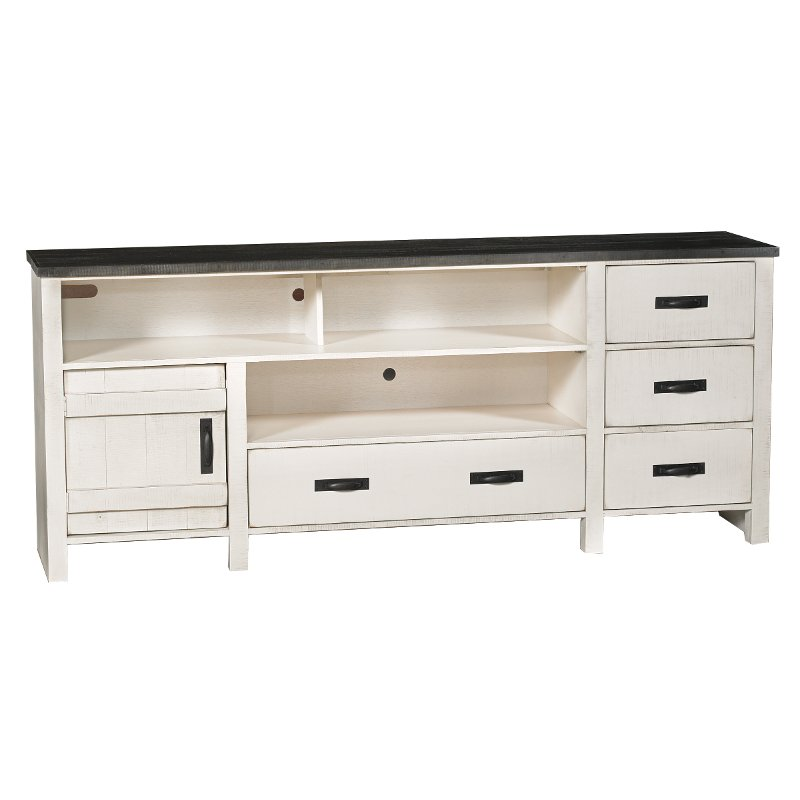 80 Inch Rustic White Tv Stand Descanso Rc Willey Furniture Store