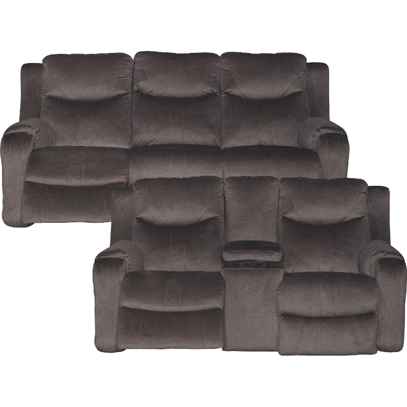 Coffee Brown Power Reclining Sofa U0026 Console Loveseat   Marvel