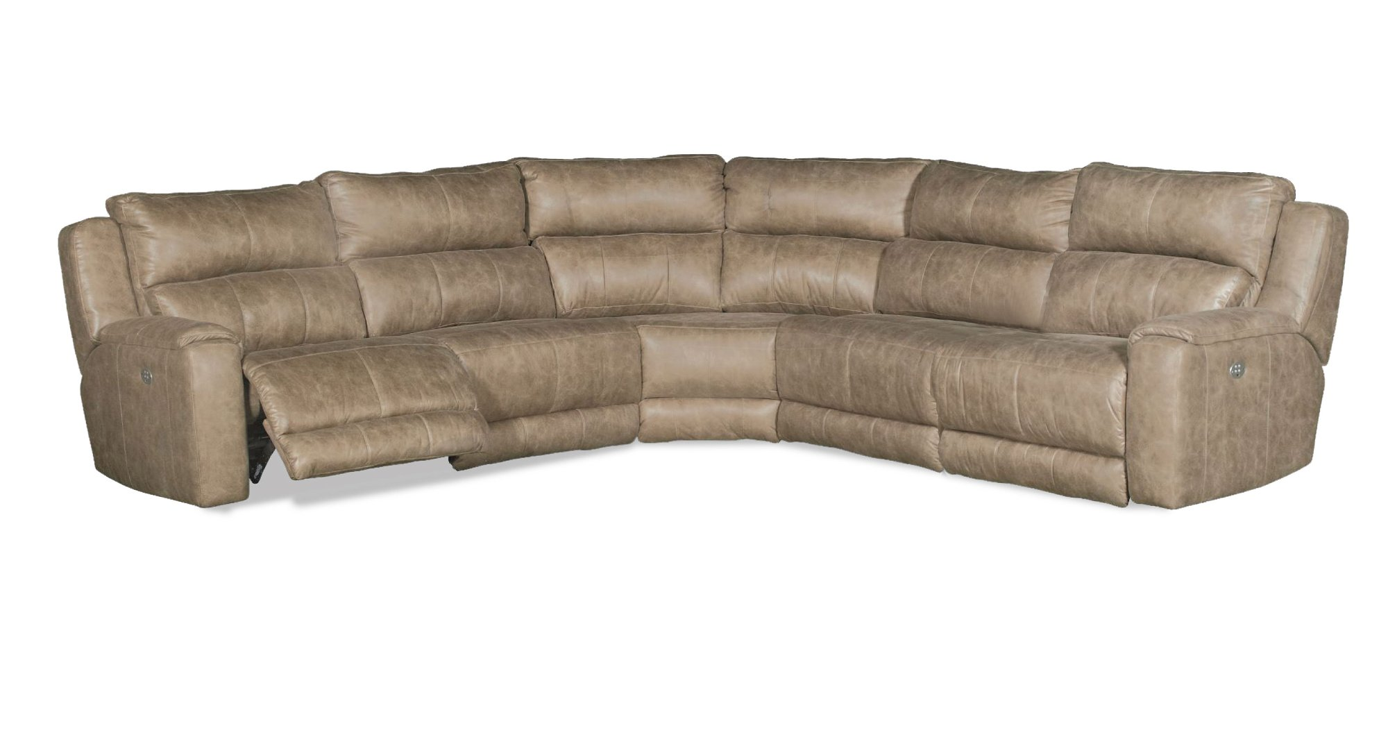 Vintage Taupe 7-Piece Power Reclining Sectional - Dazzle ...