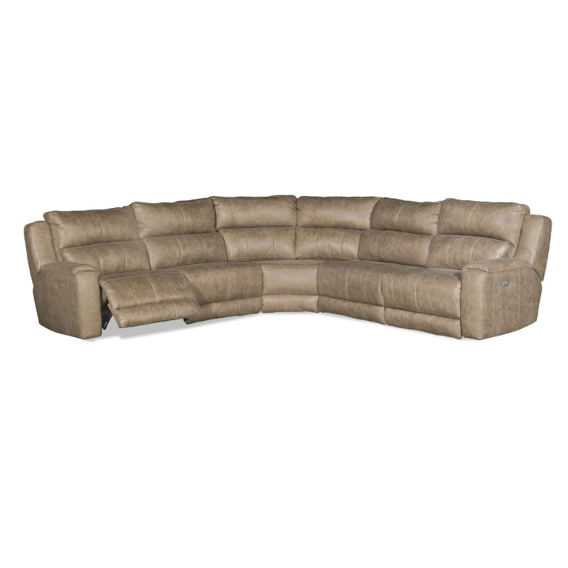 Vintage Taupe 5 Piece Power Reclining Sectional Sofa   Dazzle | RC Willey  Furniture Store