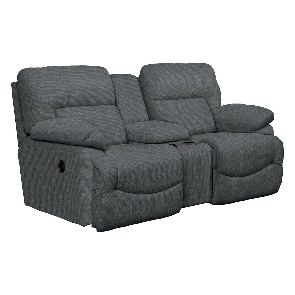 Asher 80 Quot Blue La Z Time 174 Manual Reclining Loveseat With