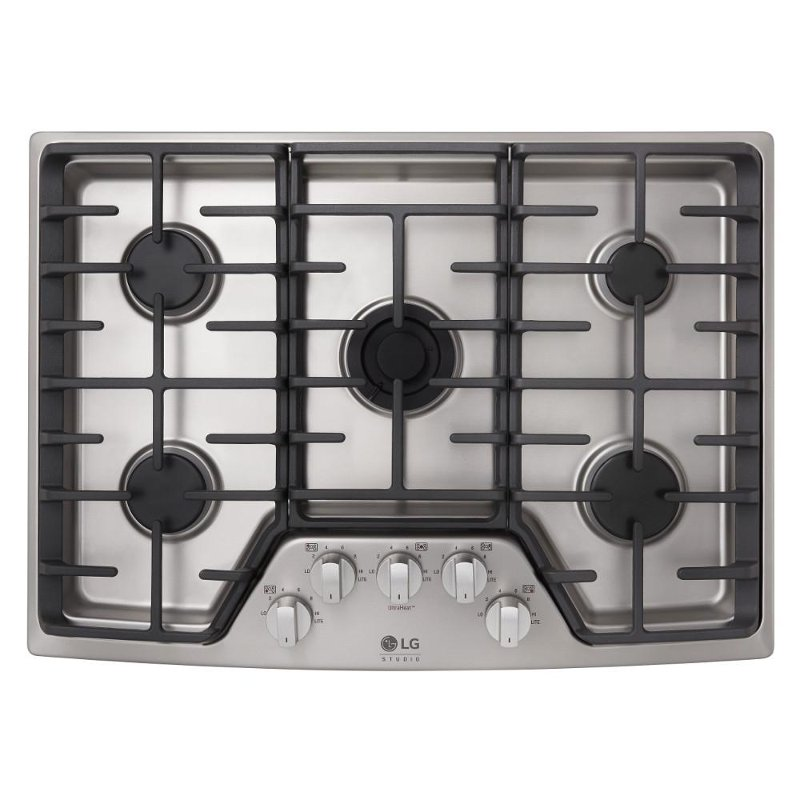 30 gas cooktop. Delighful Cooktop LG STUDIO 30 Inch Gas Cooktop  Stainless Steel  RC Willey Furniture Store To E