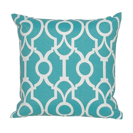 Teal And White Geometric Indoor Outdoor Throw Pillow Rc Willey