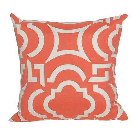 Orange And White Modern Indoor Outdoor Throw Pillow Rc Willey