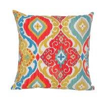 Teal Yellow Orange Amp Blue Indoor Outdoor Throw Pillow