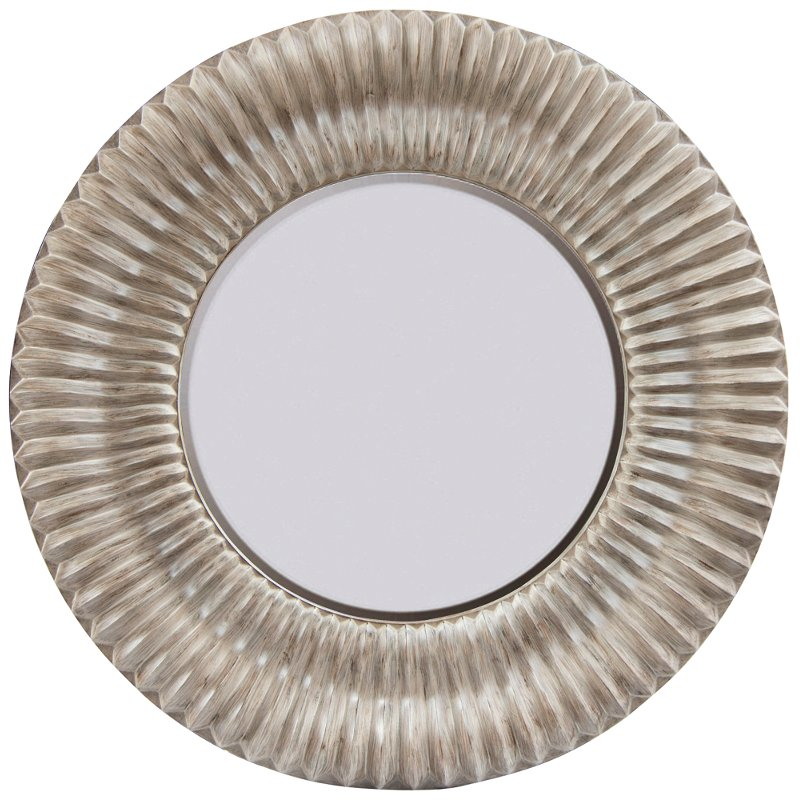 Round Distressed Wood Framed Mirror | RC Willey Furniture Store