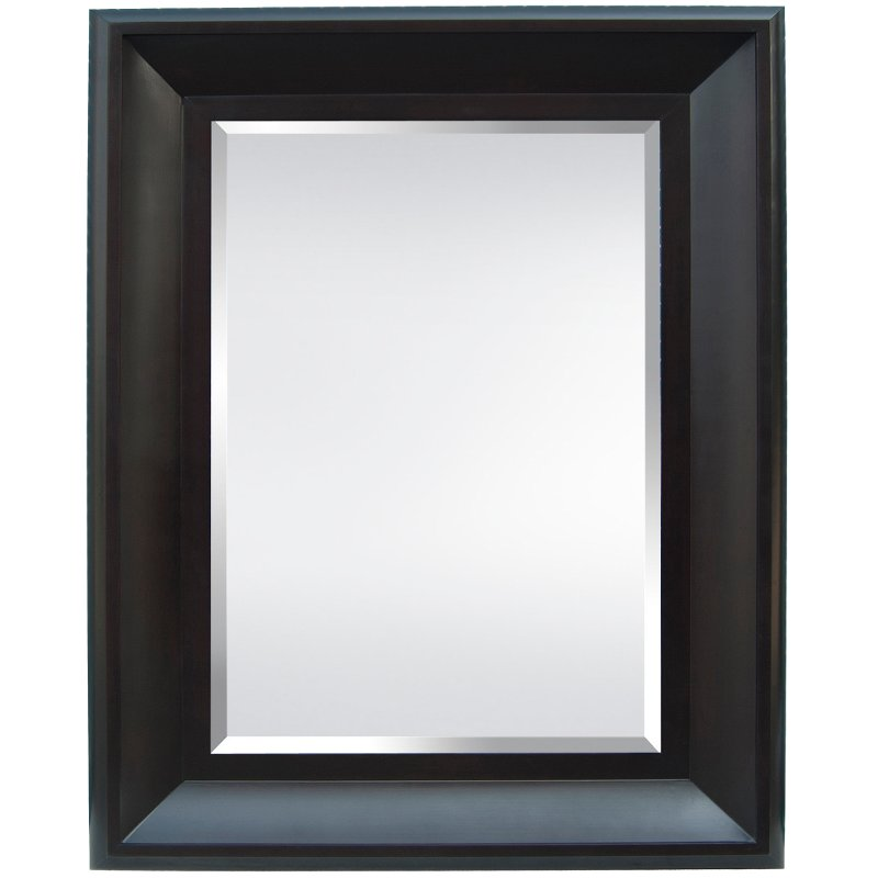 Black Wide Frame Wall Mirror   RC Willey Furniture Store